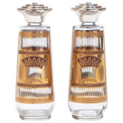 Hollywood Regency Style Culver 22-Karat Gold Salt an Pepper Shakers