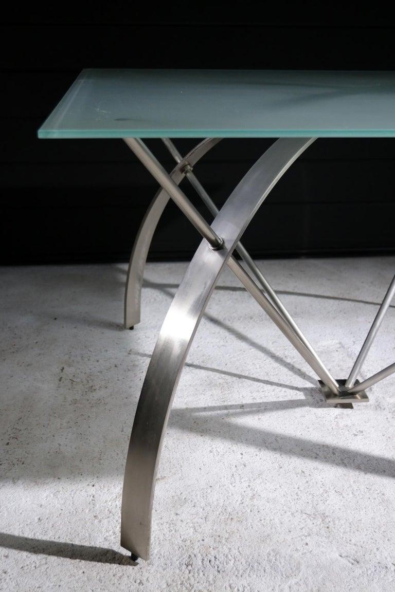 Hollywood Regency Style Design Belgo Chrom Dining Table, circa 1980 For Sale 1
