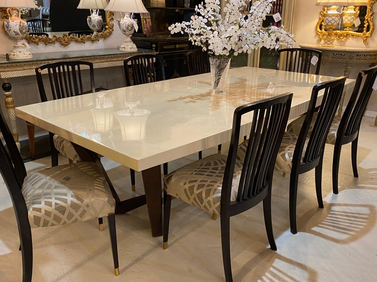 Hollywood Regency Style Dining or Conference Table by Lorin Marsh Design For Sale 5