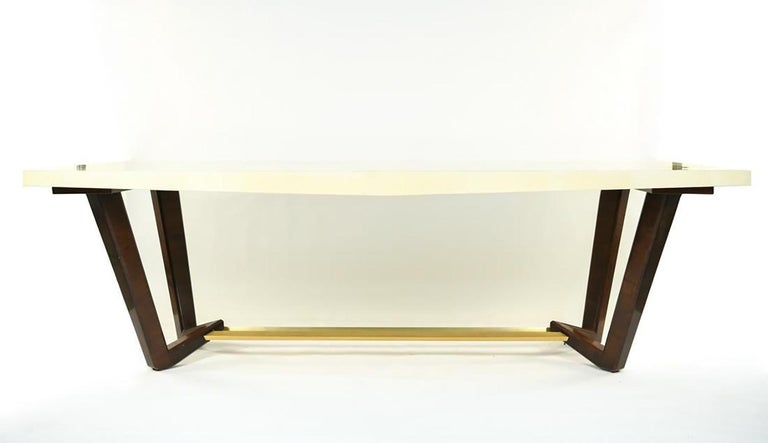 Art Deco Hollywood Regency Style Dining or Conference Table by Lorin Marsh Design For Sale