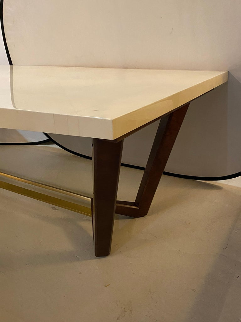 Hollywood Regency Style Dining or Conference Table by Lorin Marsh Design For Sale 1