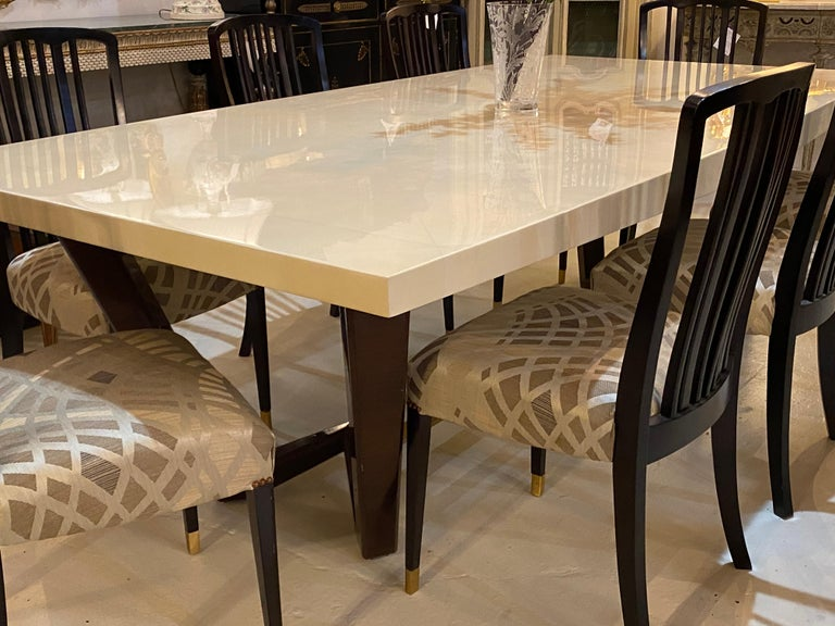 Hollywood Regency Style Dining or Conference Table by Lorin Marsh Design For Sale 2