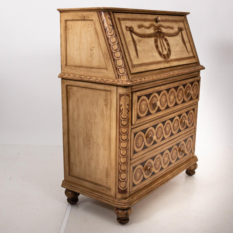 Unknown Hollywood Regency Style Drop Front Desk For Sale