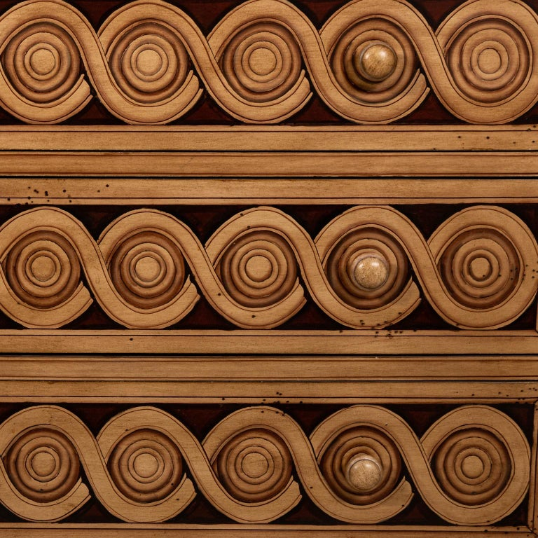 Wood Hollywood Regency Style Drop Front Desk For Sale