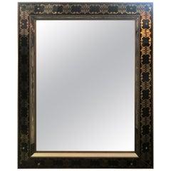 Hollywood Regency Style Églomisé Rectangular Wall or Console Mirror