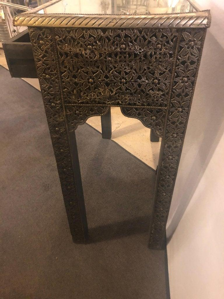 Unknown Hollywood Regency Style Filigree Console For Sale
