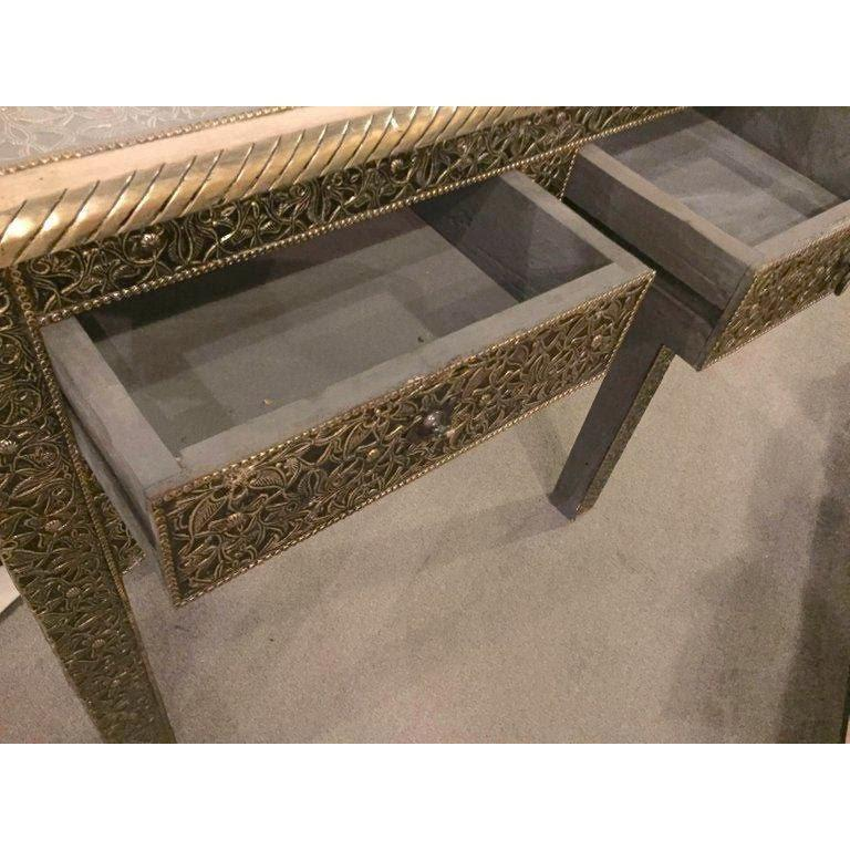 Hollywood Regency Style Filigree Console For Sale 1