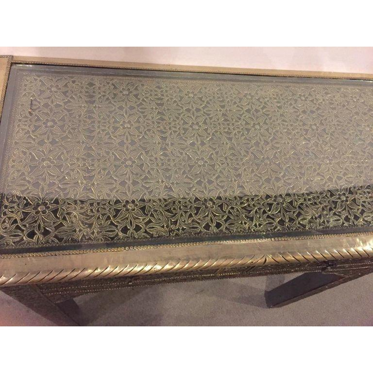 Hollywood Regency Style Filigree Console For Sale 3