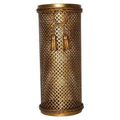 Hollywood Regency Style Gilded Umbrella Stand by Li Puma Firenze, 1950s, Italy