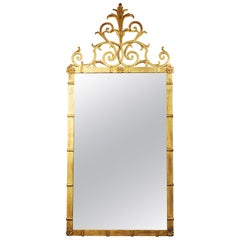 Hollywood Regency Style Gilt Metal Mirror