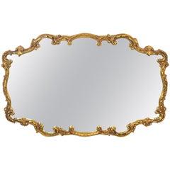 Hollywood Regency Style Gilt Wall Mirror