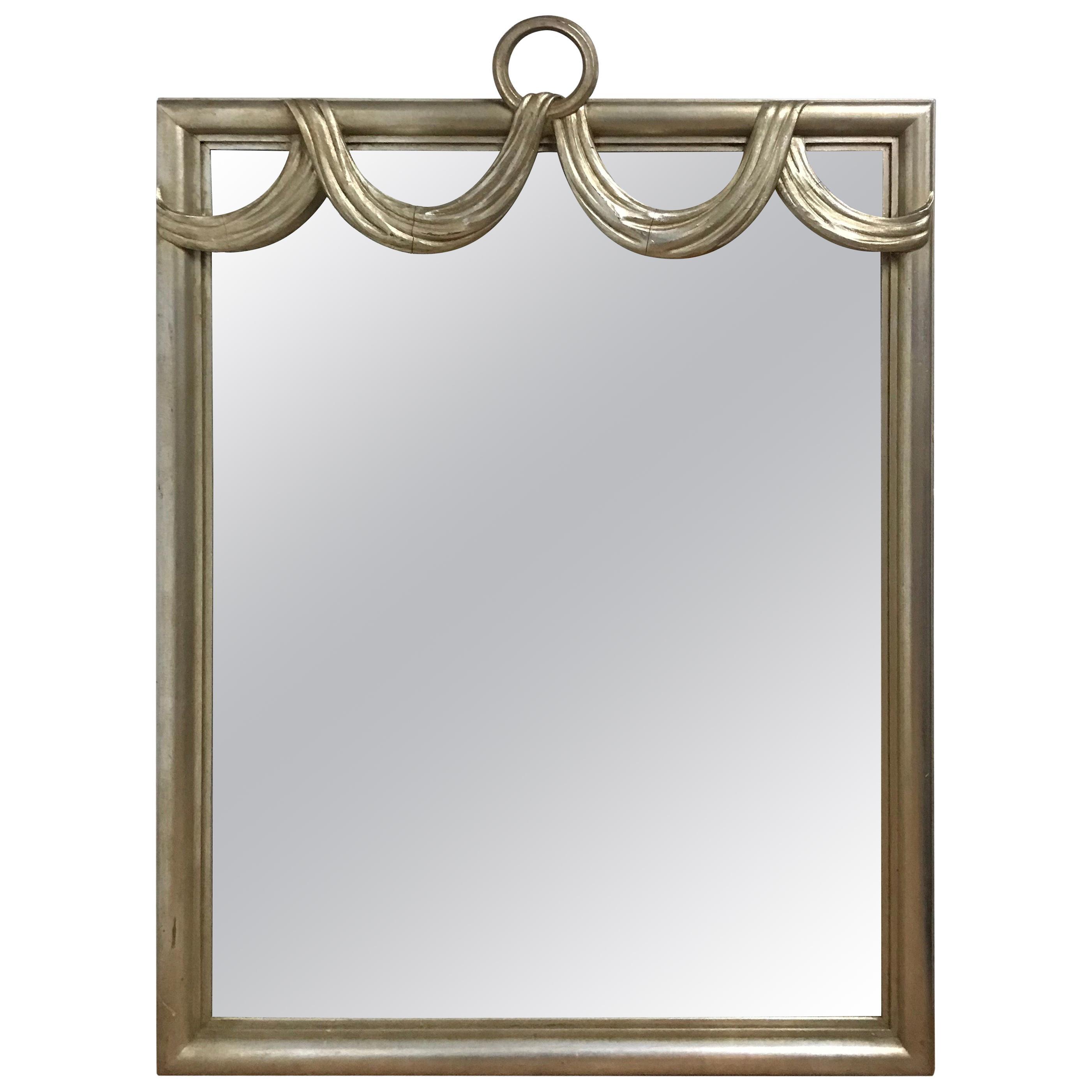 Hollywood Regency Style Giltwood Swag Mirror