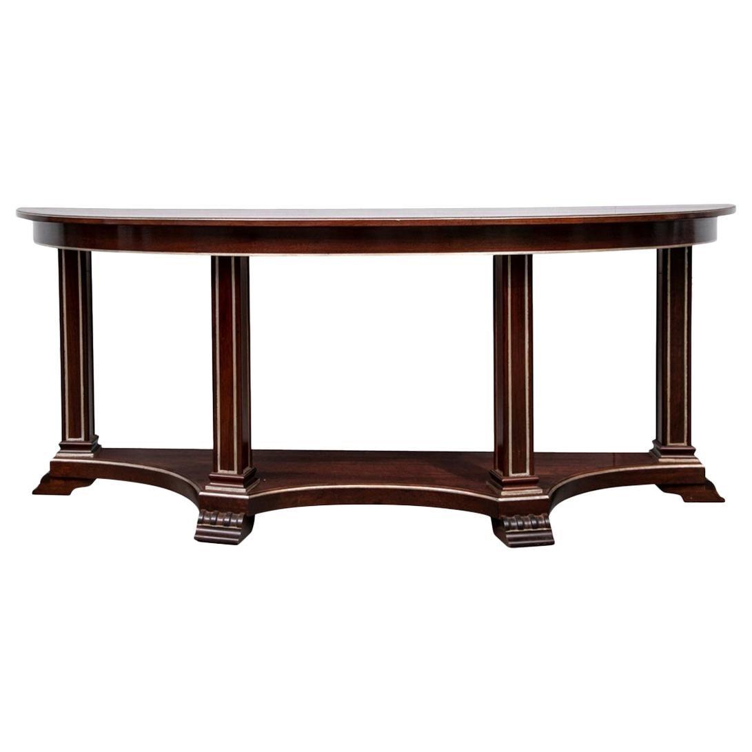 Hollywood Regency Style Mahogany Console Table