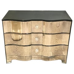 Hollywood Regency Style Mirrored Chest, Dresser, Nightstand by Lorin Marsh