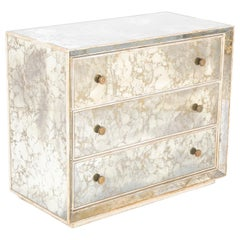 Hollywood Regency Style Mirrored Chest of Drawers