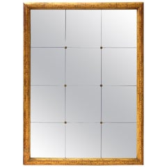Hollywood Regency Style Painted Faux Bamboo Mirror