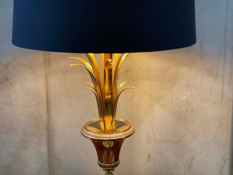 Hollywood Regency Style Palm Tree Table Lamp, Maison Jansen In Good Condition For Sale In Hamburg, DE