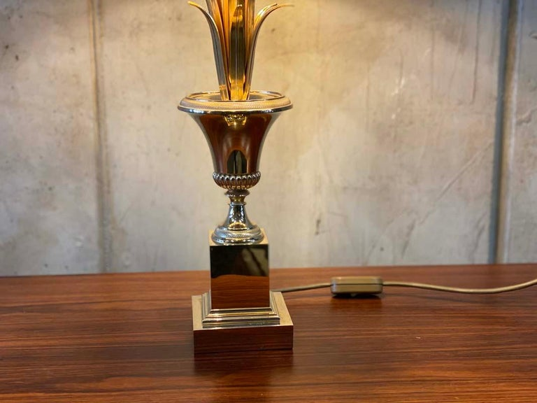 Late 20th Century Hollywood Regency Style Palm Tree Table Lamp, Maison Jansen For Sale