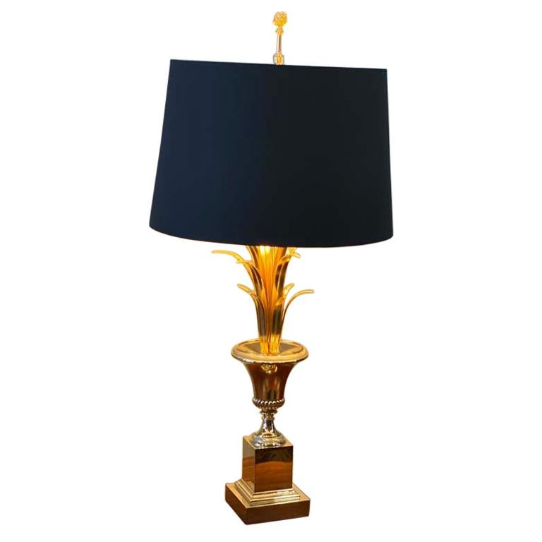 Hollywood Regency Style Palm Tree Table Lamp, Maison Jansen