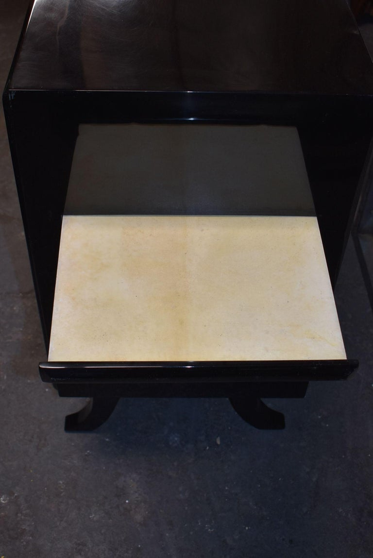 Hollywood Regency Style Parchment Credenza For Sale 4