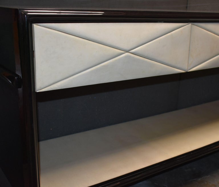American Hollywood Regency Style Parchment Credenza For Sale