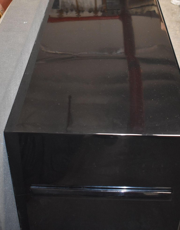 Hollywood Regency Style Parchment Credenza For Sale 3