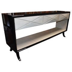 Hollywood Regency Style Parchment Credenza