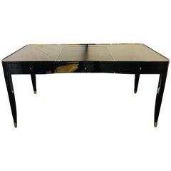 Hollywood Regency Style Ralph Lauren One Fifth Paris Ebony Chrome & Leather Desk