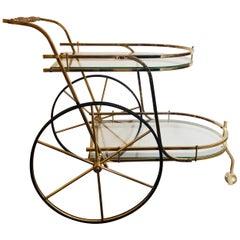 Hollywood Regency Style Serving Cart / Tea Cart