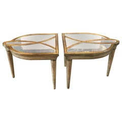 Hollywood Regency Style Two-Part Mirrored Cocktail Table