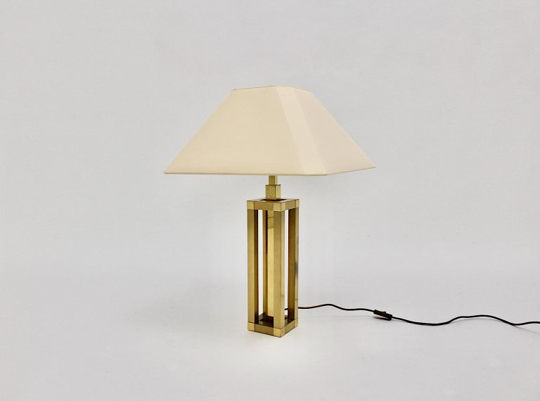 Hollywood Regency Style Vintage Brass Table Lamp Romeo Rega Style, Italy, 1970s For Sale 4