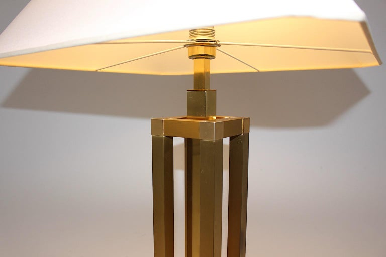 Hollywood Regency Style Vintage Brass Table Lamp Romeo Rega Style, Italy, 1970s For Sale 5