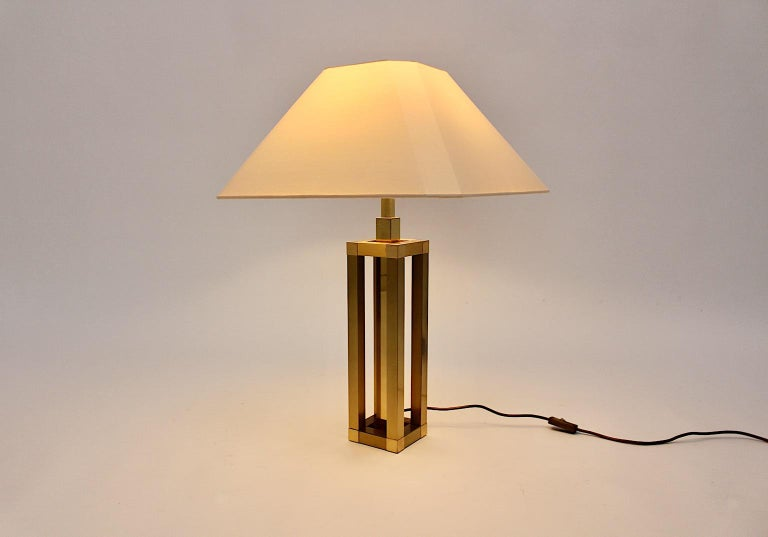 Hollywood Regency Style Vintage Brass Table Lamp Romeo Rega Style, Italy, 1970s For Sale 7