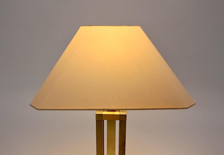 Hollywood Regency Style Vintage Brass Table Lamp Romeo Rega Style, Italy, 1970s For Sale 8