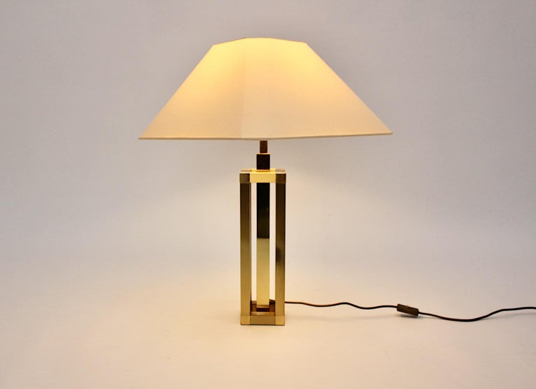 Hollywood Regency Style Vintage Brass Table Lamp Romeo Rega Style, Italy, 1970s For Sale 1
