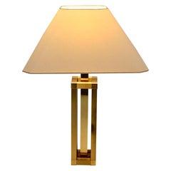 Hollywood Regency Style Vintage Brass Table Lamp Romeo Rega Style, Italy, 1970s