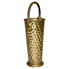 Hollywood Regency Style Vintage Brass Umbrella Stand, 1970s, Italy