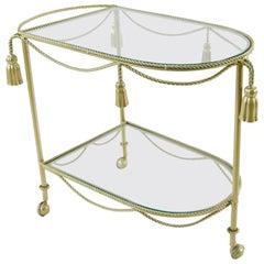 Hollywood Regency Tassel Bar Cart