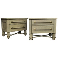 Hollywood Regency Two-Drawer Low Chests by Hart Associates