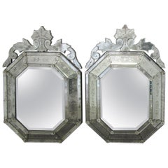 Hollywood Regency Venetian Etched Mirrors