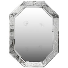 Hollywood Regency Venetian Octagonal Etched Mirror