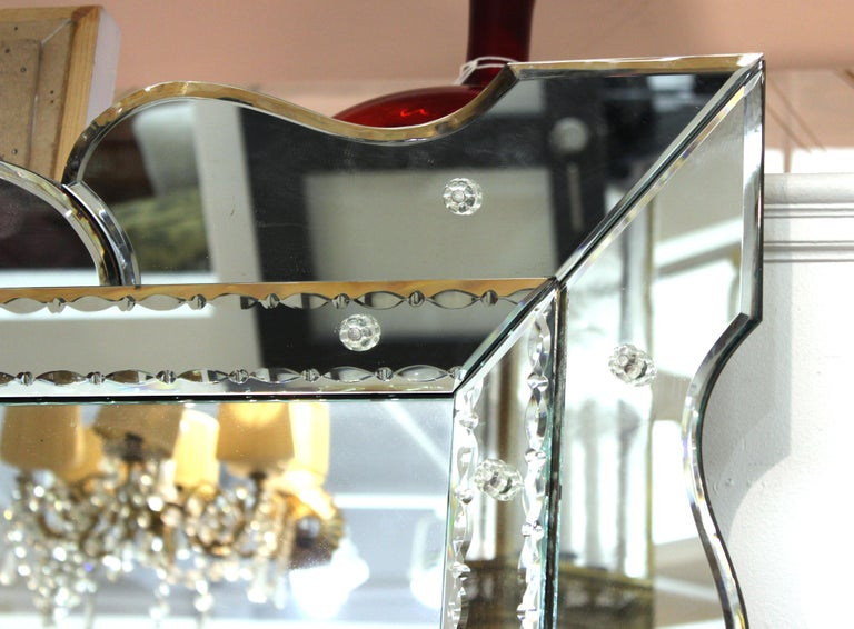 20th Century Hollywood Regency Venetian Wall Mirror For Sale