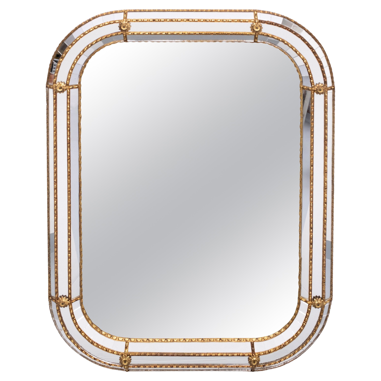 Hollywood Regency Wall Mirror, 1970s