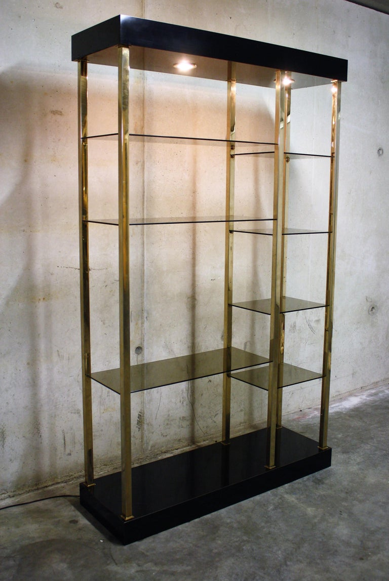 Hollywood Regency Wall Unit by Belgochrom, 1970s For Sale 4