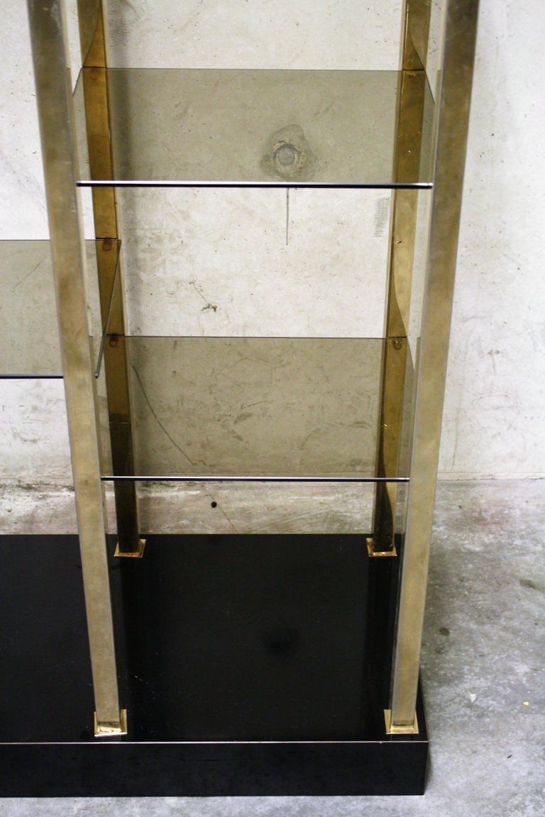Hollywood Regency Wall Unit by Belgochrom, 1970s For Sale 3