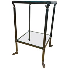 Hollywood Style Bronze Side Table