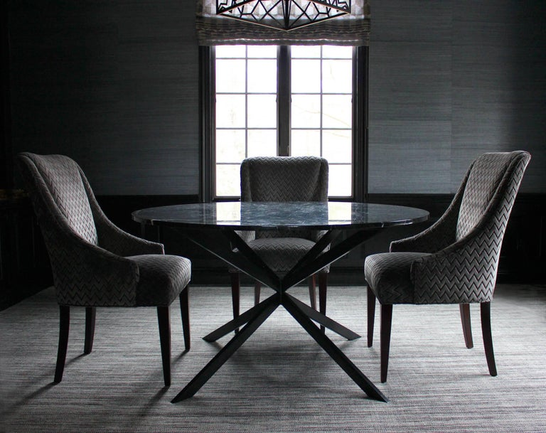American Holmby mid century style bronze and glass dining table For Sale