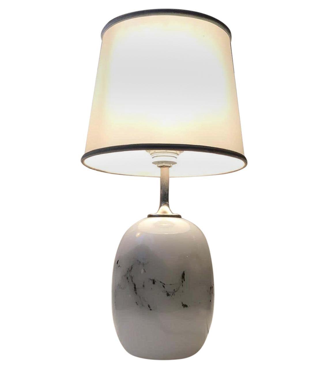 Holmegaard Art Glass Sakura Table Lamp by Michael Bang, 1970s