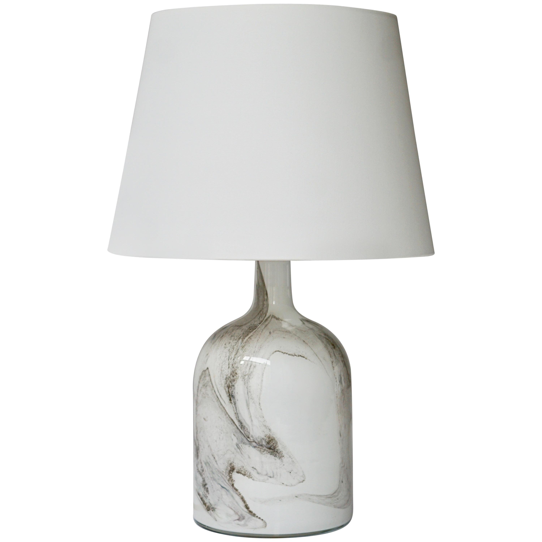 Holmegaard Glass Table Lamp, Denmark, 1980