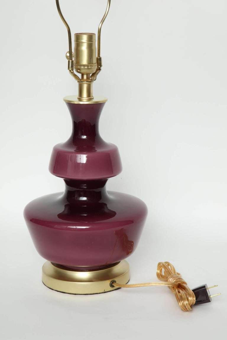 20th Century Holmegaard Raspberry Glass Lamps For Sale